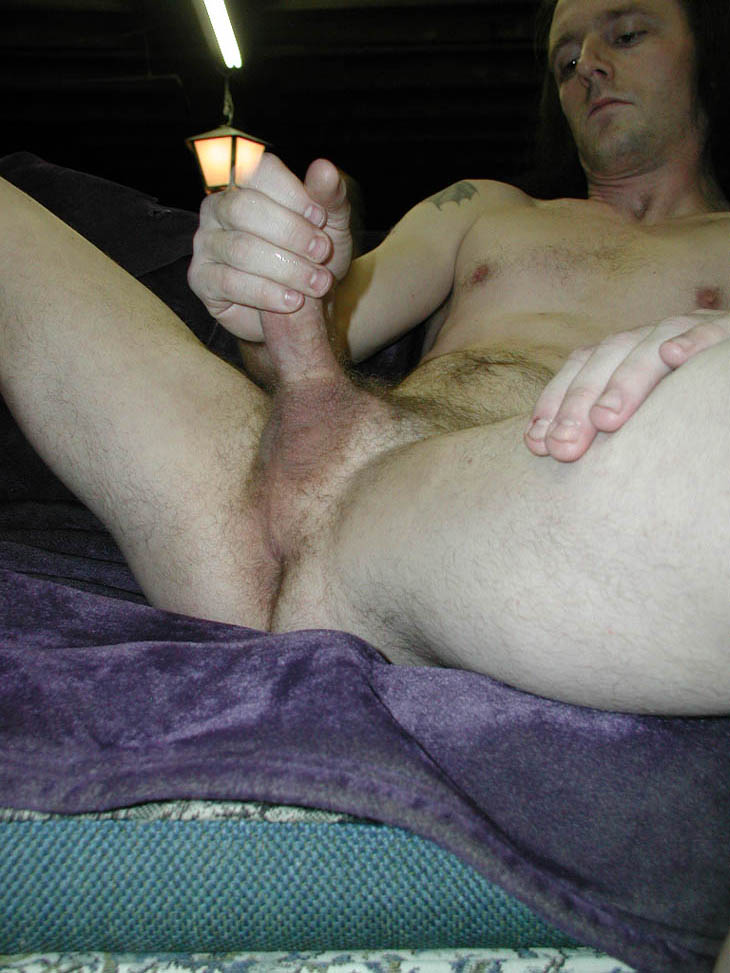 Horny gay hunk masturbates on an interview